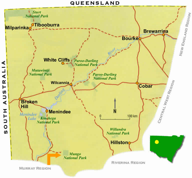 Map of Outback NSW