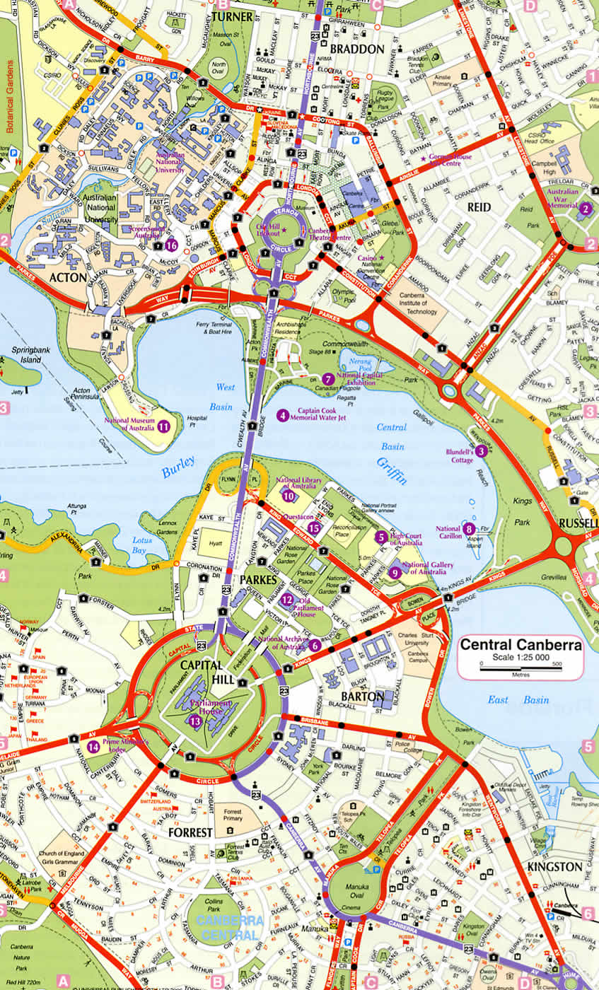 Canberra CBD Map