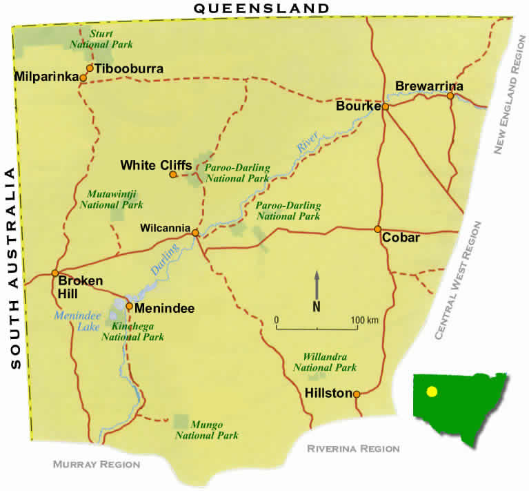 road map for outback  nsw