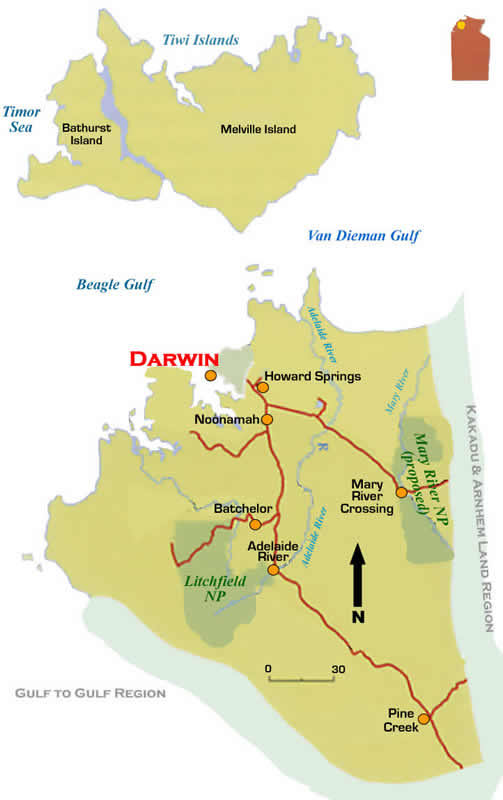 Darwin Map Of Australia.Darwin Travel Maps Regional Map Road Maps Nt