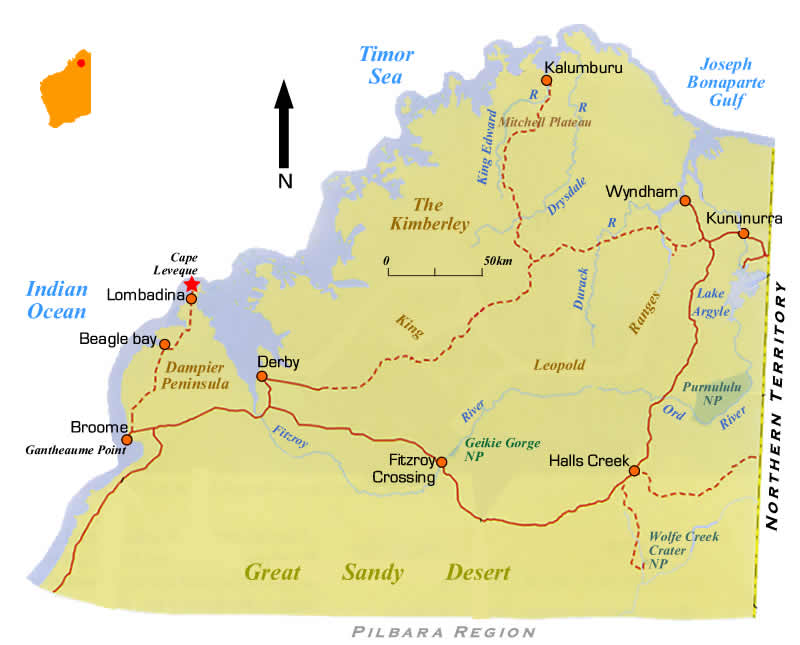 the north western australia road map wa