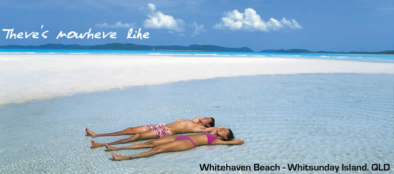 Whitehaven Beach. Whitsunday Island. Queensland