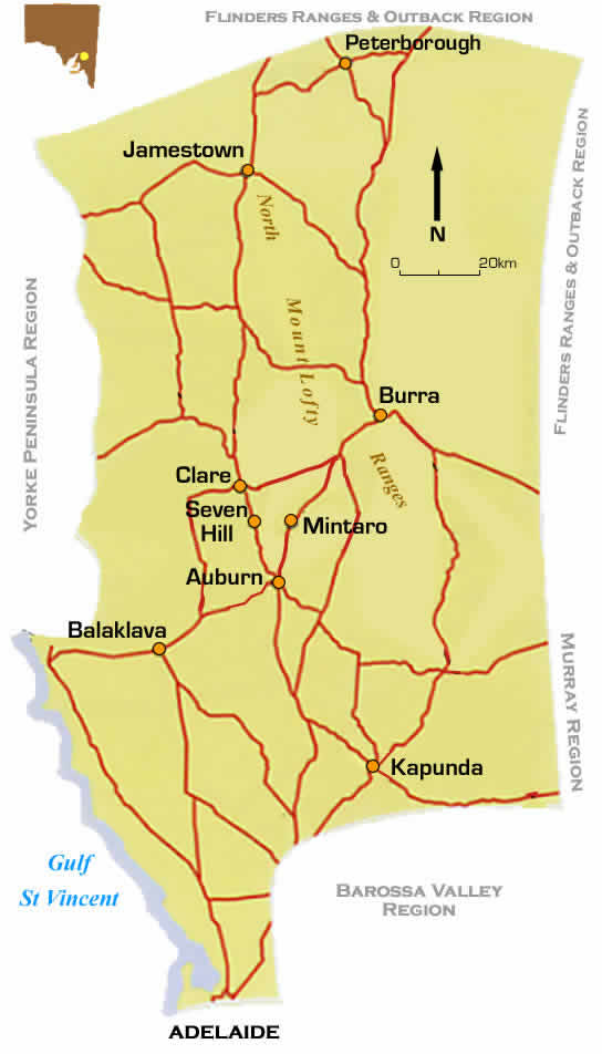 Clare Valley Map